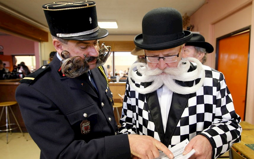 Участники бородатого соревнования в Ирландии