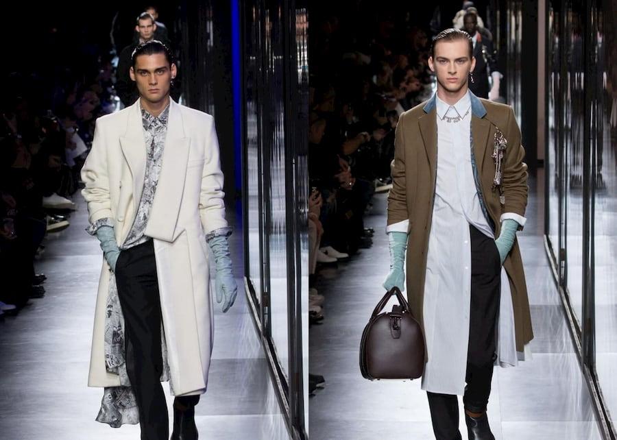 Модели с идеально гладкими волосами на показе Dior осень-зима 2020