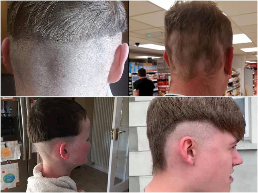 Не пытайтесь сразу сбрить волосы на висках и затылке машинкой без насадки, если у вас нет опыта и вы не собираетесь бриться налысо
