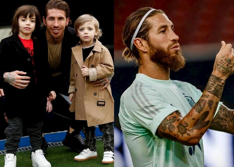 Слева — фотография, которая сделана в январе 2020, справа — один из последних снимков. Кроме длинных волос, за время карантина у футболиста появилась борода
