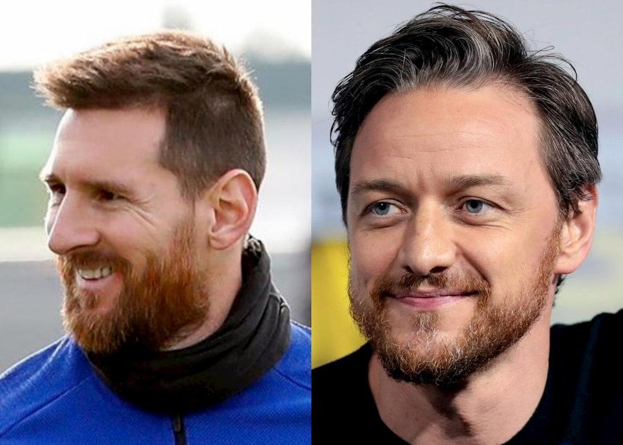 В соцсетях над Лионелем Месси часто шутят из-за рыжей бороды. Кажется, она совершенно не смущает футболиста, как и актера Джеймса МакЭвоя