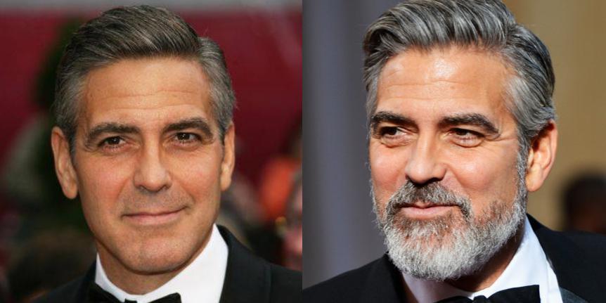 Джордж Клуни — пример того, как нужно стричься, чтобы седина выглядела стильно. Актер рано столкнулся с этой проблемой, но не пытался ее скрыть