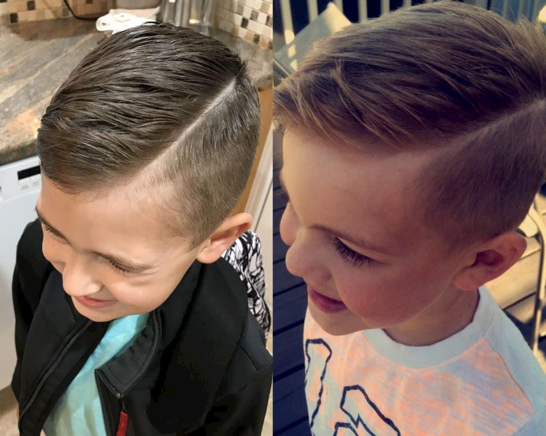 Эта стрижка понравится юным джентльменам. Она отлично сочетается со школьной формой и стилем casual, но при этом не выглядит скучно (фото с pinterest.com)