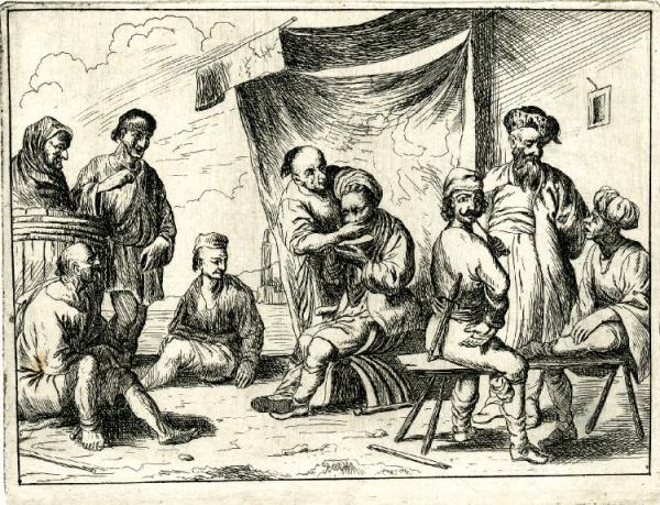Такая «многозадачность» делала цирюльников незаменимыми на войне, в отличие от врачей, которые давали консультации и лечили богачей