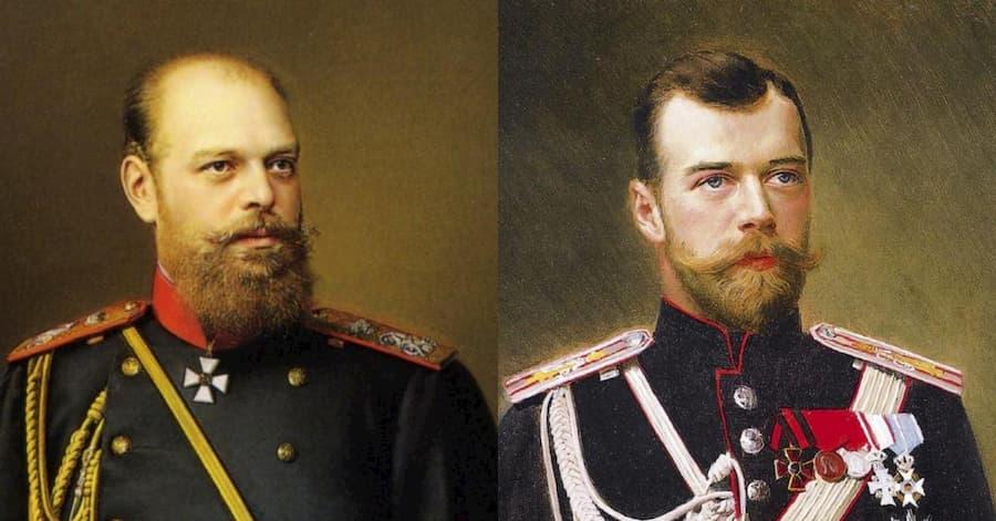 У самого Александра III была окладистая борода — именно та, с которой так рьяно боролся Петр I. Николай II также носил бороду, но другой формы — клиновидную, с пышными усами