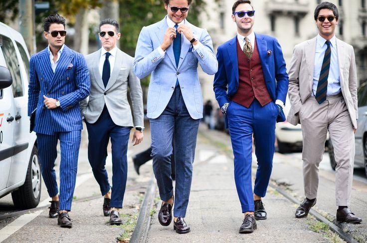 Итальянские мужчины любят ухаживать за собой и редко выходят на улицу без укладки. Легкий объем на макушке, зачес назад – это не займет много времени и придаст образу лоск</p>