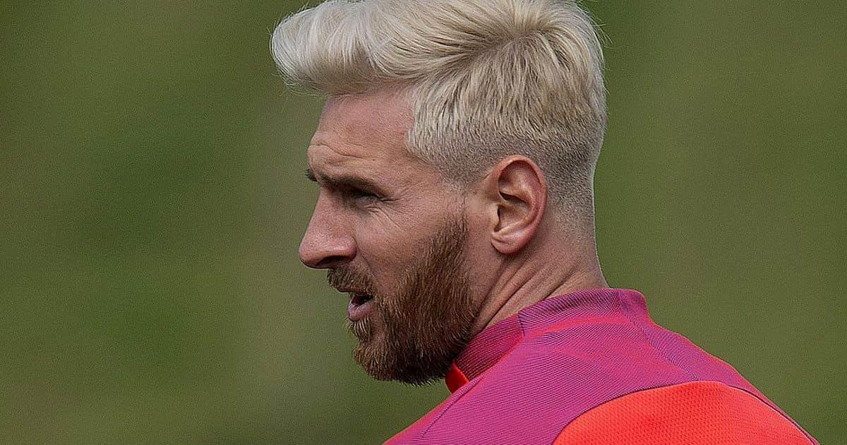 Когда Месси стал платиновым блондином (с рыжей бородой), многие ругали его новый образ, но менее мужественным от этого он не стал