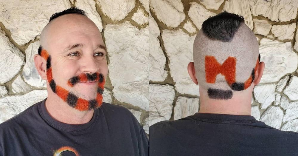Этот мужчина сделал такую бороду, чтобы поддержать дочь-чирлидера