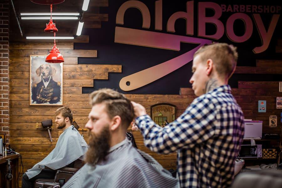 «Опаску» можно увидеть и в логотипе OldBoy Barbershop