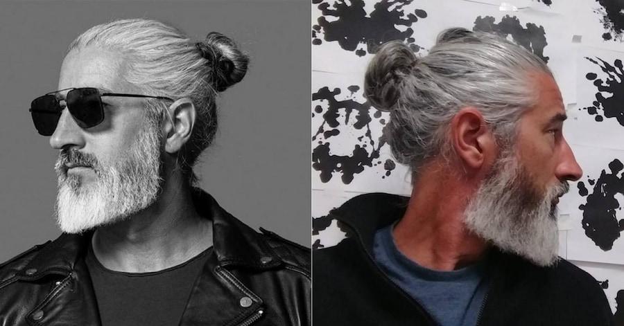 Канадец Рон Джек Фоли — пример того, что длинные волосы и седина смотрятся вполне органично (фото — @to_ron_to в Instagram)