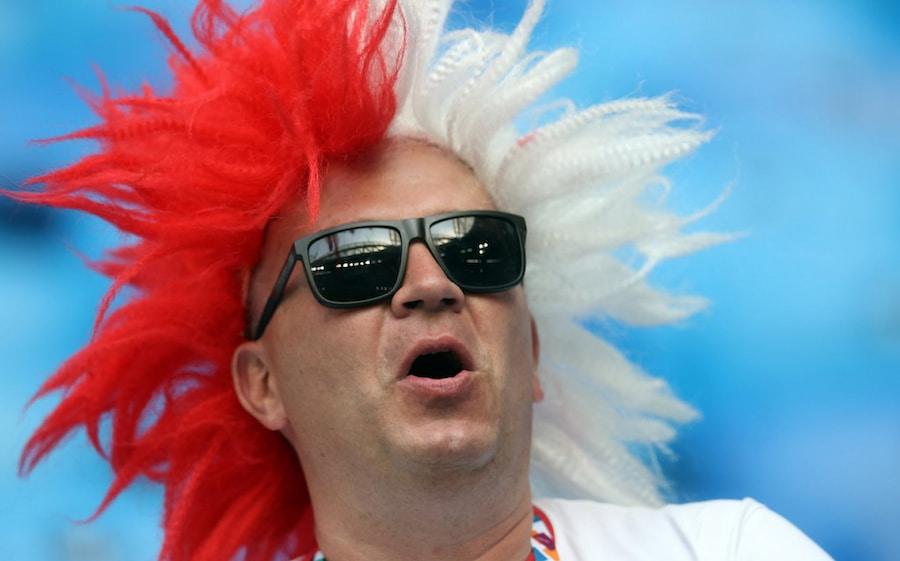 Этот фанат пришел поддержать сборную Польши в игре против Швеции