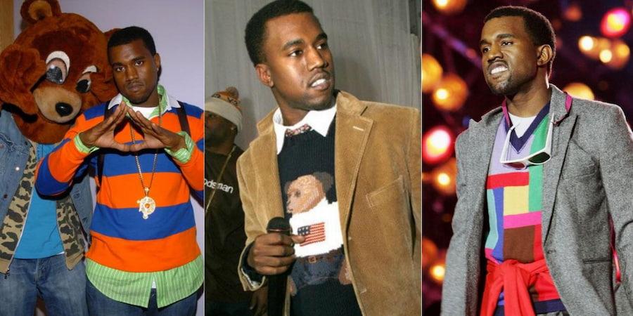 Благодаря Канье в моду вошли Polo Bear Ральфа Лорена (посередине). Сложно сказать, сколько у рэпера было свитеров и свитшотов с изображением медвежонка