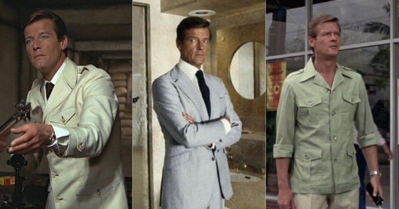 Наш выбор — белый сафари-пиджак из «Человека с золотым пистолетом»
