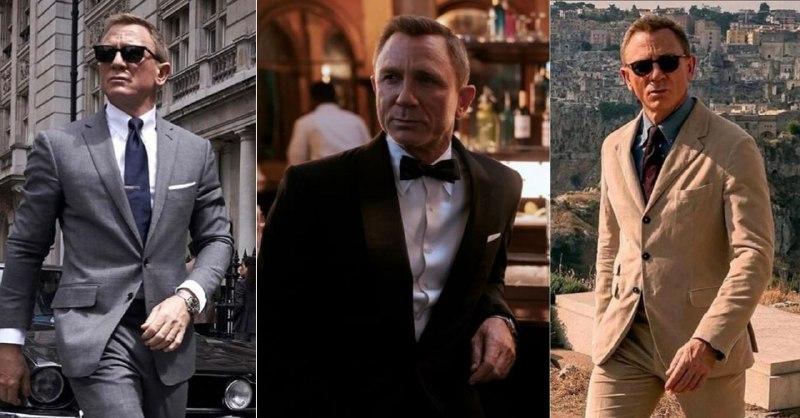 Если вы решите посмотреть «Не время умирать», обратите внимание на стиль Дэниела Крейга, особенно на образ справа. Вообще не рекомендуется надевать рубашку темнее пиджака, но, как вы видите, все относительно