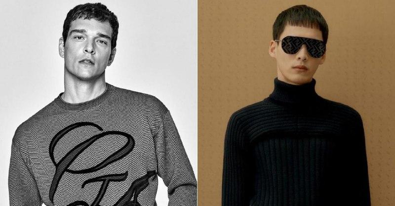 Слева — рекламная кампания Giorgio Armani, справа — Fendi