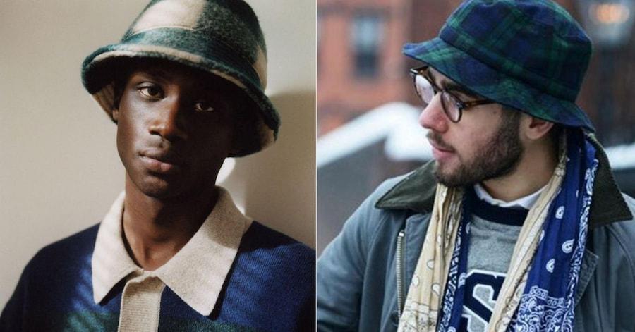 Все-таки название bucket hat (от английского bucket — «ведро») подходит этим моделям больше, чем «панама» (1 фото — кампания Isabel Marant, 2 фото — Pinterest)