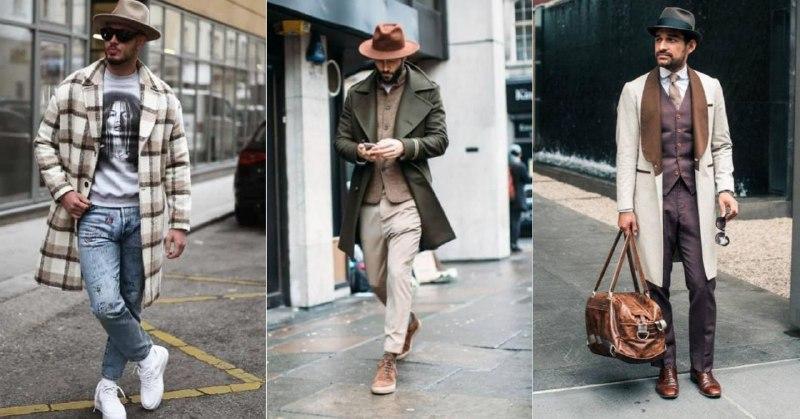 Раньше сочетание «шляпа + кроссовки» считали моветоном. Сейчас же шляпы не боятся носить даже с трениками. Но с пальто, костюмами и туфлями они смотрятся эффектнее всего (1 фото — Dress Trends, 2 — Pinterest, 3 — Articles of Style)